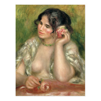 Pierre A Renoir | Gabrielle with a Rose Postcard