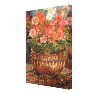 Pierre A Renoir | Geraniums in a Copper Basin Canvas Print