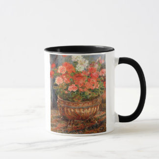 Pierre A Renoir | Geraniums in a Copper Basin Mug