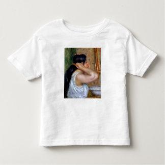 Pierre A Renoir | Girl Combing her Hair Toddler T-Shirt
