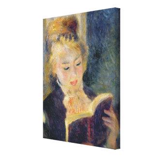 Pierre A Renoir   Girl Reading Canvas Print