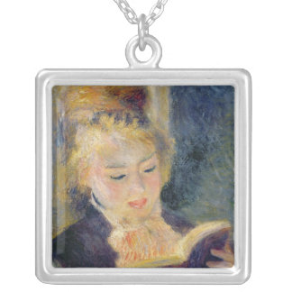 Pierre A Renoir | Girl Reading Silver Plated Necklace