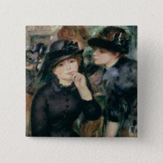 Pierre A Renoir | Girls in Black 15 Cm Square Badge