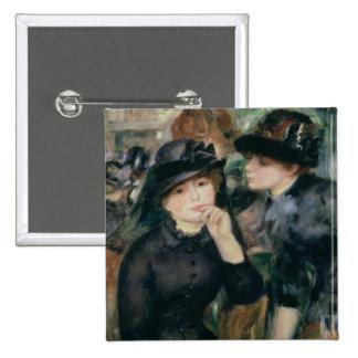 Pierre A Renoir | Girls in Black, 1881-82 15 Cm Square Badge