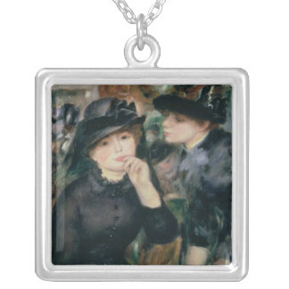 Pierre A Renoir | Girls in Black Silver Plated Necklace