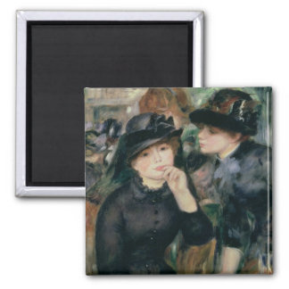 Pierre A Renoir | Girls in Black Square Magnet