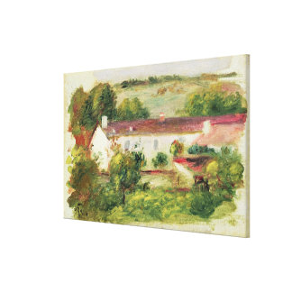 Pierre A Renoir | House at Essoyes Canvas Print