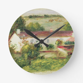 Pierre A Renoir | House at Essoyes Round Clock