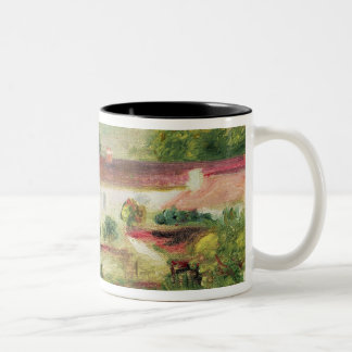 Pierre A Renoir | House at Essoyes Two-Tone Coffee Mug