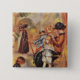 Pierre A Renoir | In the Luxembourg Gardens 15 Cm Square Badge