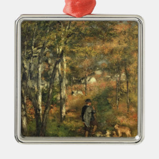 Pierre A Renoir | Jules Le Coeur in the Forest Silver-Colored Square Decoration