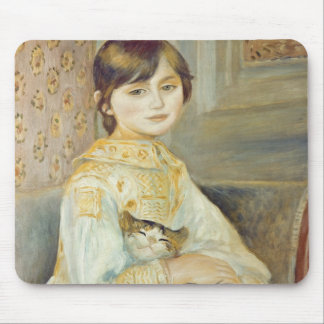 Pierre A Renoir | Julie Manet with Cat Mouse Pad