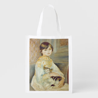 Pierre A Renoir | Julie Manet with Cat Reusable Grocery Bag