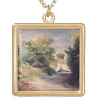 Pierre A Renoir | Landscape near Cagnes Gold Plated Necklace