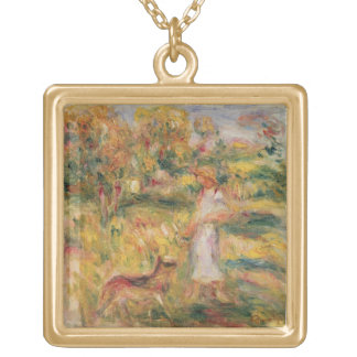 Pierre A Renoir | Landscape with the artist's wife Gold Plated Necklace