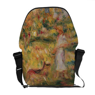 Pierre A Renoir | Landscape with the artist's wife Messenger Bags