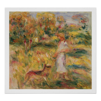 Pierre A Renoir   Landscape with the artist's wife Poster