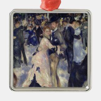 Pierre A Renoir | Le Moulin de la Galette Silver-Colored Square Decoration