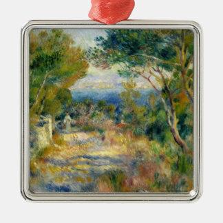 Pierre A Renoir | L'Estaque Silver-Colored Square Decoration