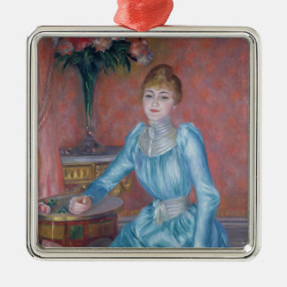 Pierre A Renoir | Madame de Bonnieres Silver-Colored Square Decoration