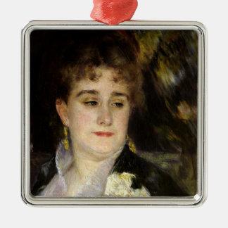 Pierre A Renoir | Madame Georges Charpentier Silver-Colored Square Decoration