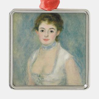 Pierre A Renoir   Madame Henriot Silver-Colored Square Decoration