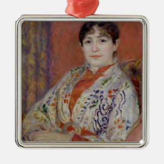 Pierre A Renoir | Madame Heriot Silver-Colored Square Decoration