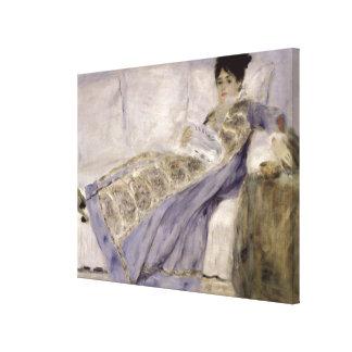 Pierre A Renoir | Madame Monet on a Sofa Canvas Print