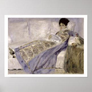 Pierre A Renoir | Madame Monet on a Sofa Poster