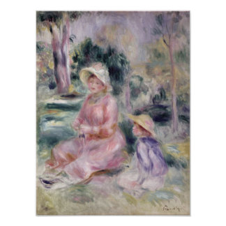 Pierre A Renoir | Madame Renoir and her son Pierre Poster