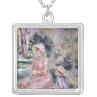 Pierre A Renoir | Madame Renoir and her son Pierre Silver Plated Necklace