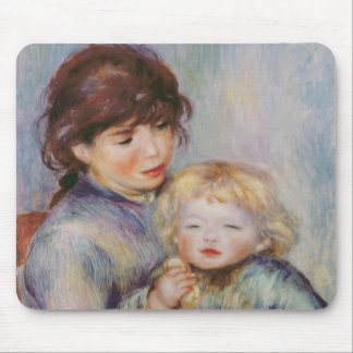 Pierre A Renoir | Maternity, Child with a biscuit Mouse Mat
