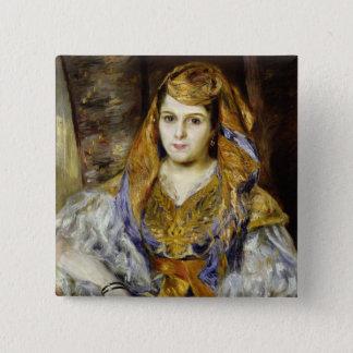 Pierre A Renoir | Mme. C. Stora in Algerian Dress 15 Cm Square Badge