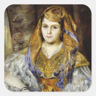 Pierre A Renoir   Mme. C. Stora in Algerian Dress Square Sticker