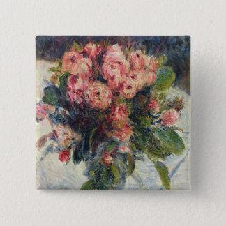 Pierre A Renoir | Moss-Roses 15 Cm Square Badge