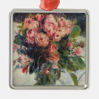 Pierre A Renoir | Moss-Roses Silver-Colored Square Decoration