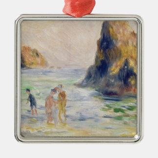 Pierre A Renoir | Moulin Huet Bay, Guernsey Silver-Colored Square Decoration