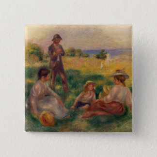 Pierre A Renoir | Party in the Country at Berneval 15 Cm Square Badge