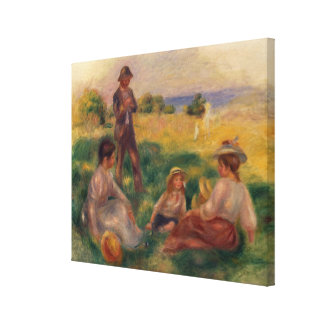 Pierre A Renoir | Party in the Country at Berneval Canvas Print