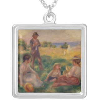 Pierre A Renoir | Party in the Country at Berneval Silver Plated Necklace