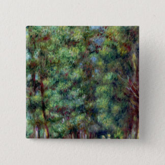 Pierre A Renoir | Path in a Wood 15 Cm Square Badge