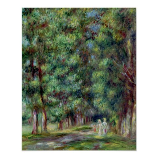 Pierre A Renoir   Path in a Wood Poster