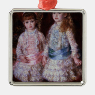 Pierre A Renoir | Pink and Blue Silver-Colored Square Decoration
