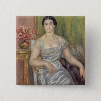 Pierre A Renoir | Portrait of A. Valliere-Merzbach 15 Cm Square Badge
