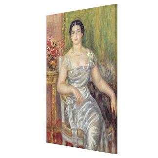 Pierre A Renoir | Portrait of A. Valliere-Merzbach Canvas Print