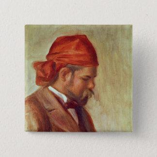 Pierre A Renoir | Portrait of Ambroise Vollard 15 Cm Square Badge