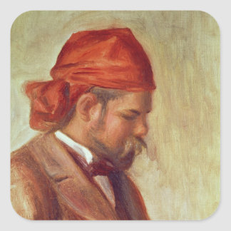 Pierre A Renoir | Portrait of Ambroise Vollard Square Sticker