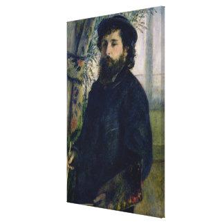 Pierre A Renoir | Portrait of Claude Monet Canvas Print
