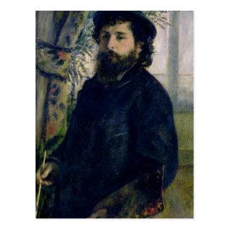 Pierre A Renoir   Portrait of Claude Monet Postcard