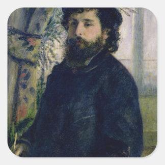 Pierre A Renoir | Portrait of Claude Monet Square Sticker